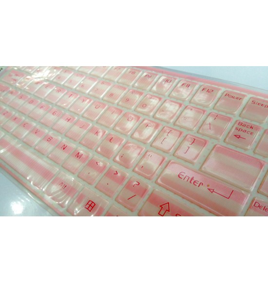 Keyboard Sticker - Pink Stripes