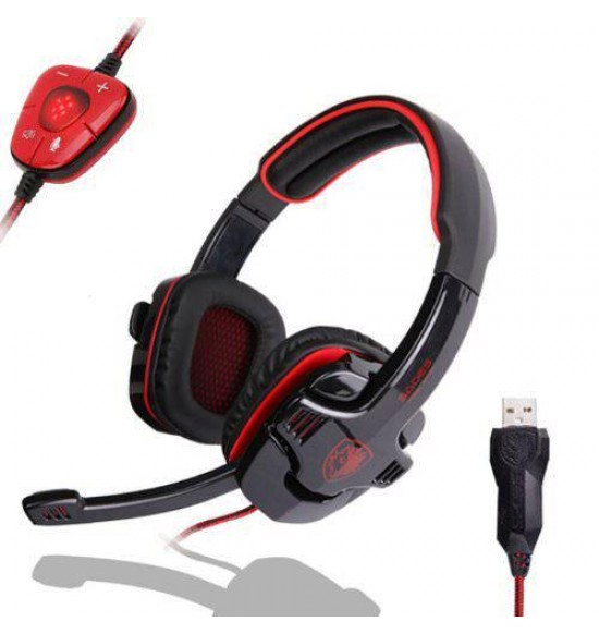 Headset Gaming Sades Woflang With 7.1 Usb Sound Card (901)