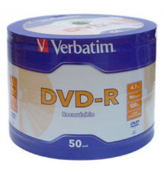 DVD-R  Verbatim Silver Spindle 4.7GB 16X