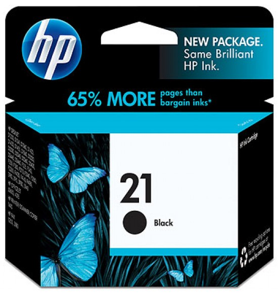 Tinta HP 21 Black - Hitam