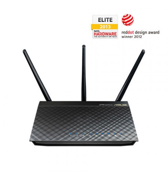 Wireless Router Asus - RT-AC66U 802.11ac Dual-Band Wireless-AC1750 Gigabit Router